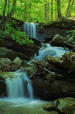 Photograph - Rock Run Tributary Falls #2 by Joel E Blyler