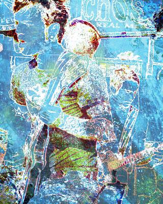Art Print featuring the digital art Rock Star Guitarist by John Fish