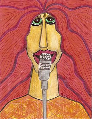Red Rock Drawing - Rock Star by Ray Ratzlaff