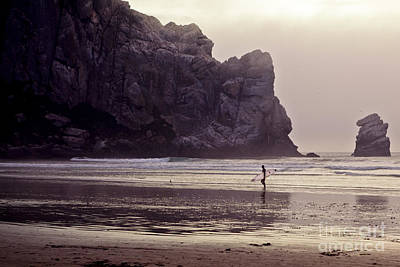 Morro Bay Ca Photograph - Rock Surfer by Laura Dienzo