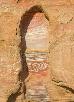 Petra Photograph - Rock Texture Of Cave Wall, Petra, Jordan by Keren Su
