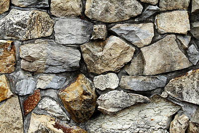 Rock Wall  Art Print by Les Cunliffe