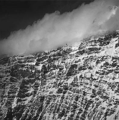 Photograph - T-50301-bw-rock Wall On Unnamed Alaskan Peak by Ed  Cooper Photography