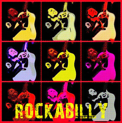 Rockabilly In Comic Style Original by Tommytechno Sweden