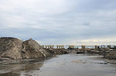 Rockaway Beach After Hurricane Sandy 4 Art Print by Maureen E Ritter