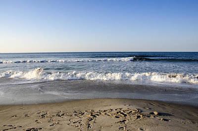 Rockaway Beach Morning Shoreline Art Print by Maureen E Ritter