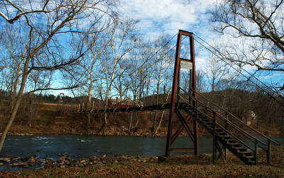 Photograph - Rockbridge Baths Swinging Bridge by Cathy Shiflett