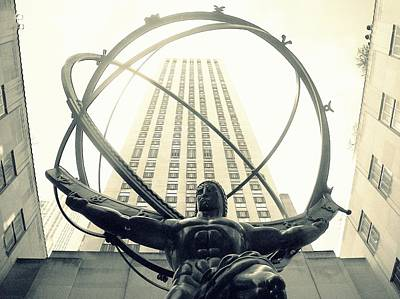 Photograph - 'rockefeller Center And Atlas' by Liza Dey