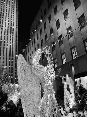 Photograph - Rockefeller Center Angels  by Marianne Campolongo