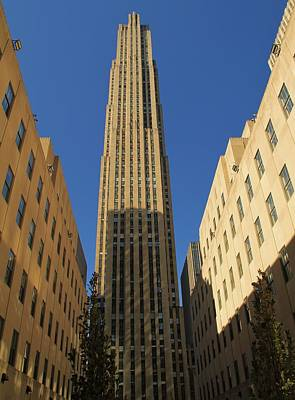 Rockefeller Plaza Photograph - Ge Building  by Dan Sproul