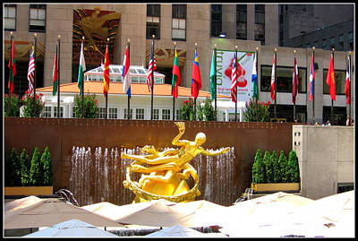 Rockefeller Center New York Original by Dora Sofia Caputo Photographic Art and Design