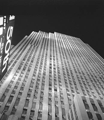 Photograph - Rockefeller Center Night by Dave Beckerman