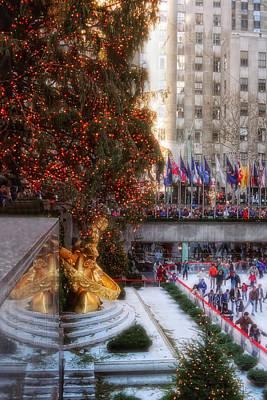 Photograph - Rockefeller Center Skating by Joann Vitali