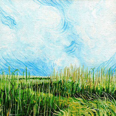 Painting - Rockefeller Coastal Marsh Louisiana  by Lizi Beard-Ward