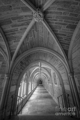 Surrealism Royalty-Free and Rights-Managed Images - Rockefeller College Architecture BW by Michael Ver Sprill