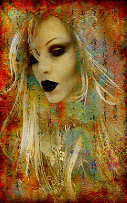 Digital Art - Rocker Girl by Greg Sharpe