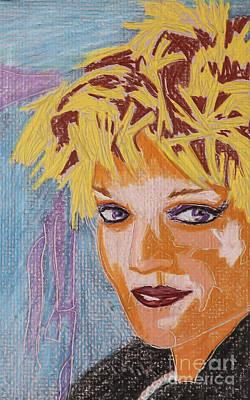 Rock And Roll Drawings - Rocker Girl by Robert Yaeger