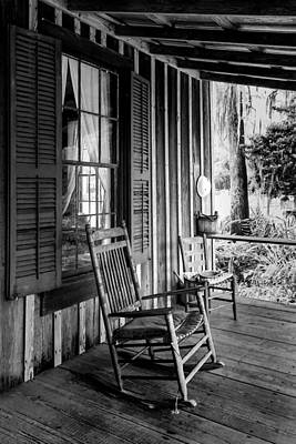 Ladder Back Chairs Photograph - Rocker On The Veranda by Lynn Palmer