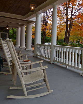 Photograph - Rockers On Inn Porch by Jean Wright