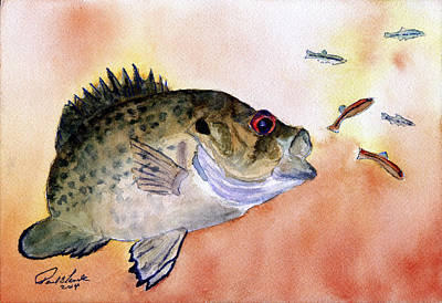 Panfish Painting - Rocket Attack by Paul Temple