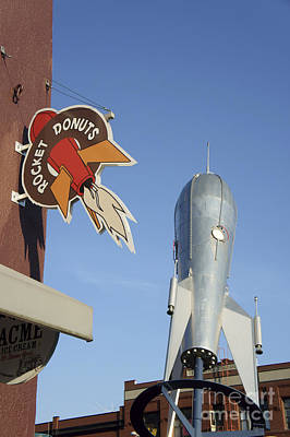 Photograph - Rocket Donuts Vertical Bellingham by John  Mitchell