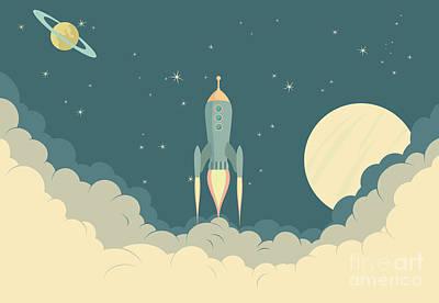Rocket Art Print by Fenton Wylam
