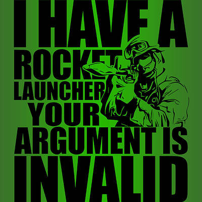 Off Road Photograph - Rocket Launcher Argument Invalid by Split Melon Tactical