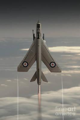 Lightning Digital Art - Rocket Ship by J Biggadike