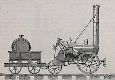 Rocket Steam Engine Designed Art Print by Everett