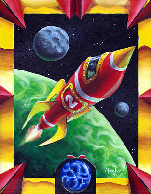 Painting - Rocketship R-2 by Michael Ivy