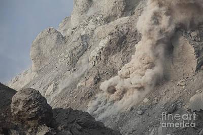 Photograph - Rockfall On Flank Of Rerombola Lava by Richard Roscoe