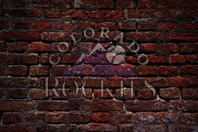 Rockies Baseball Graffiti On Brick  Art Print by Movie Poster Prints
