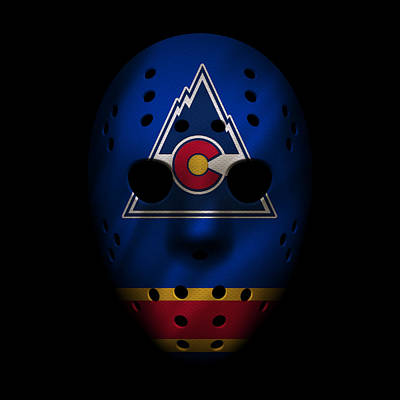 Photograph - Rockies Jersey Mask by Joe Hamilton