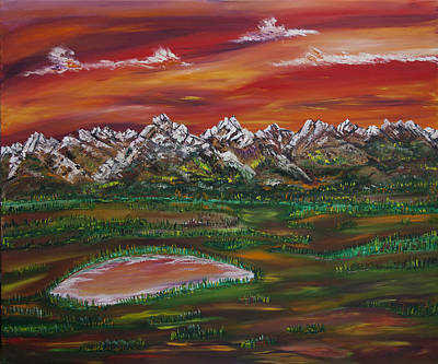 Painting - Rockies Revisted by James Bryron Love
