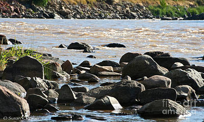 Photograph - Rockies River Edge by Susan Herber