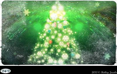 Digital Art - Rockin' Around The Christmas Tree by Holley Jacobs