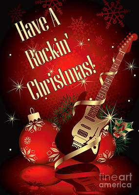 Digital Art - Rockin Christmas by JH Designs