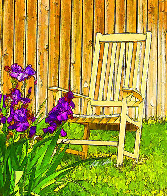Photograph - Rockin' Irises by Bill Kesler