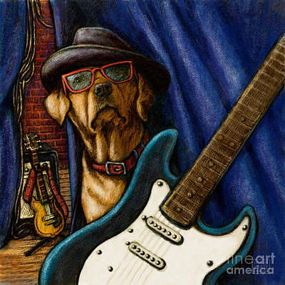 Mixed Media - Rockin' Lab by Kathleen Harte Gilsenan