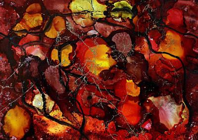 Rockin Red Ink Art Print by Joanne Smoley