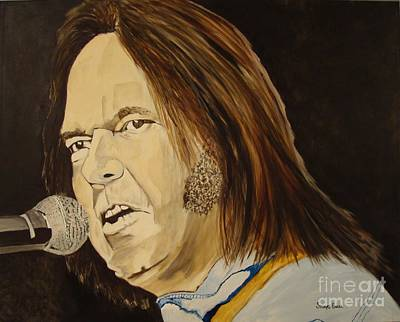 Neil Young Painting - Rockin The Free World Forever by Stuart Engel