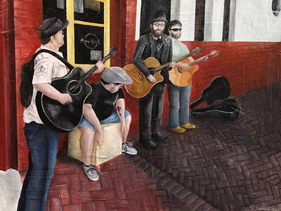 New Orleans Oil Painting - Rockin' The Nola Hard Rock by Susan L Sistrunk