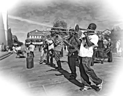 Trombone Photograph - Rockin' The Square 3 by Steve Harrington