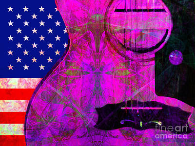 Rockin Usa 20140716 V2 M80 Art Print by Wingsdomain Art and Photography