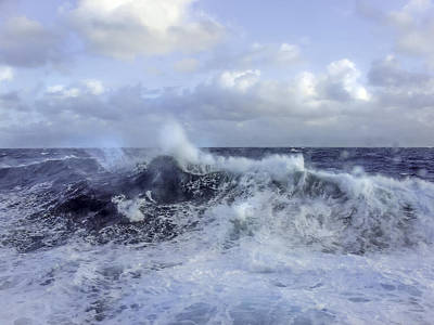 Deep Blue Photograph - Rocking And Rolling In The Deep Sea by Julie Palencia