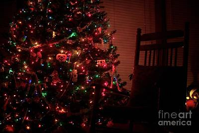 Frank J Casella Royalty-Free and Rights-Managed Images - Rocking Chair Christmas by Frank J Casella