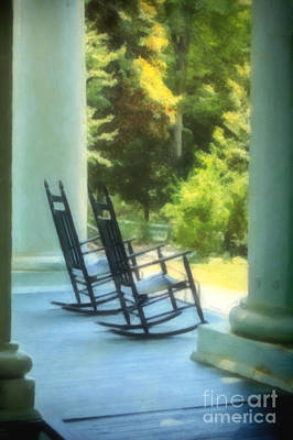 Photograph - Rocking Chairs And Columns by Kathleen K Parker