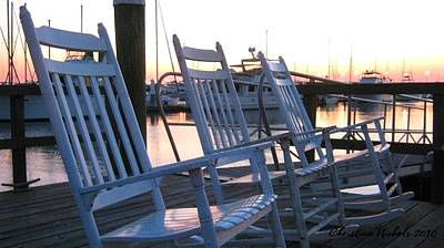 Photograph - Rocking Chairs by Christine Nichols