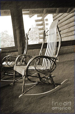 Photograph - Vintage Rocking Chairs by Minnie Lippiatt