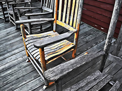 Digital Art - Rocking Chairs by Patrick M Lynch